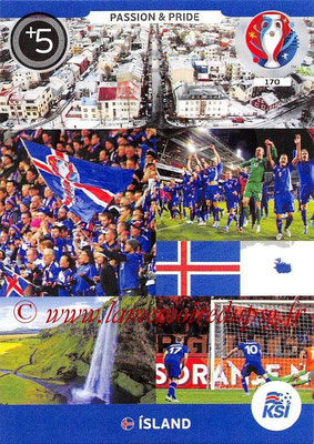 Panini Euro 2016 Cards - N° 170 - Passion and Pride d' Islande