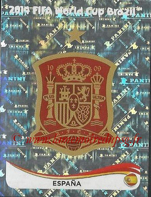 2014 - Panini FIFA World Cup Brazil Stickers - N° 108 - Ecusson Espagne