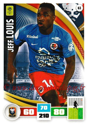 2016-17 - Panini Adrenalyn XL Ligue 1 - N° 063 - Jeff LOUIS (Caen)