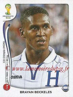 2014 - Panini FIFA World Cup Brazil Stickers - N° 400 - Brayan BECKELES (Honduras)