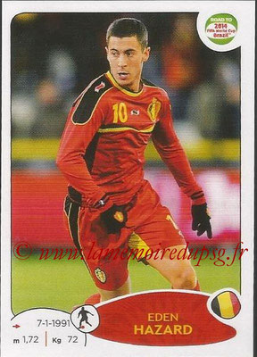 2014 - Panini Road to FIFA World Cup Brazil Stickers - N° 266 - Eden HAZARD (Belgique)