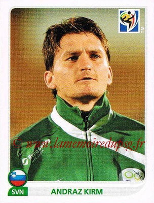 2010 - Panini FIFA World Cup South Africa Stickers - N° 247 - Andraz KIRM (Slovenie)