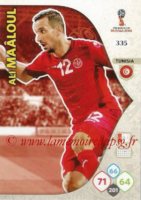 2018 - Panini FIFA World Cup Russia Adrenalyn XL - N° 335 - Ali MAALOUL (Tunisie)