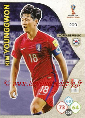 2018 - Panini FIFA World Cup Russia Adrenalyn XL - N° 200 - Kim YOUNG-GWON (Corée du Sud)