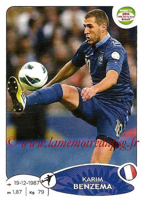 2014 - Panini Road to FIFA World Cup Brazil Stickers - N° 108 - Karim BENZEMA (France)