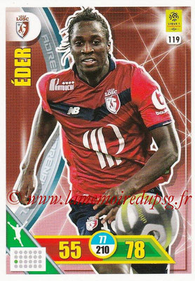 2017-18 - Panini Adrenalyn XL Ligue 1 - N° 119 - EDER (Lille)