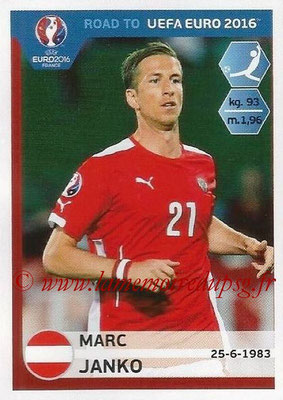 Panini Road to Euro 2016 Stickers - N° 208 - Marc JANKO (Autriche)