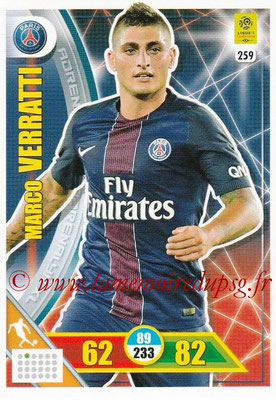 2017-18 - Panini Adrenalyn XL Ligue 1 - N° 259 - Marco VERRATTI (Paris Saint-Germain)