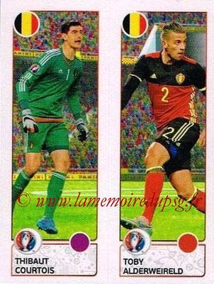 Panini Euro 2016 Stickers - N° 486 - Thibaut COURTOIS + Toby ALDERWEIRELD (Belgique)