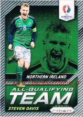 Euro 2016 Panini Prizm - N° AQ-07 - Steven DAVIS (Irlande du Nord) (All-Qualifying Team)