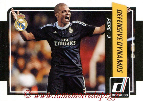 2015 - Panini Donruss Soccer - N° DD08 - PEPE (Real Madrid CF) (Defensive Dynamos)