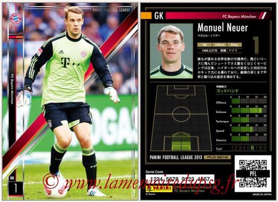 Panini Football League 2013 - PFL02 - N° 089 - Manuel Neuer ( FC Bayern Munchen )