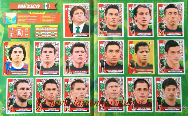 Navarette Copa America Chile 2015 Stickers - Pages 08 et 09 - Mexique