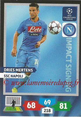 2013-14 - Adrenalyn XL champions League N° 280 - Dries MERTENS (SSC Napoli) (Impact Signing)