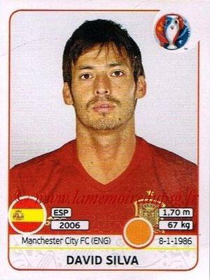 Panini Euro 2016 Stickers - N° 368 - David SILVA (Espagne)