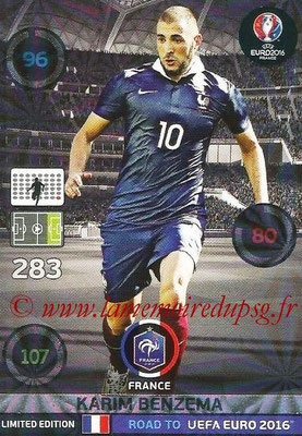 Panini Road to Euro 2016 Cards - N° LE-KB - Karim BENZEMA (France) (Limited Edition)