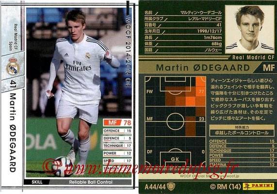 2013-14 - WCCF - N° A44 - Martin ODEGAARD (Real Madrid CF)