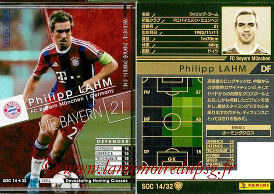 2014-15 - WCCF - N° SOC14 - Philipp LAHM (FC Bayern Munich) (Stars Of the Club)