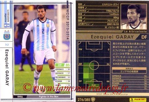 2013-14 - WCCF - N° 276 - Ezequiel GARAY (Argentine)