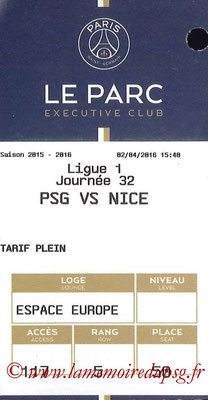 Tickets  PSG-Nice  2015-16