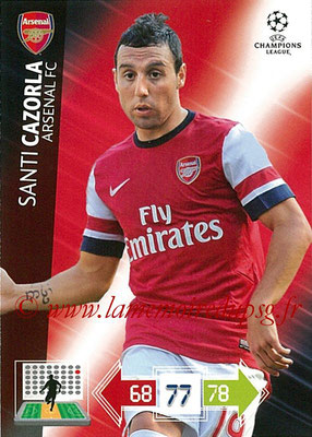 2012-13 - Adrenalyn XL champions League N° 020 - Santi CAZORLA (Arsenal FC)