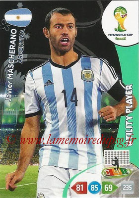 2014 - Panini FIFA World Cup Brazil Adrenalyn XL - N° 012 - Javier MASCHERANO (Argentine) (Utility Player)