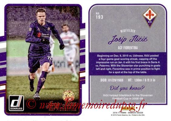 2016 - Panini Donruss Cards - N° 193 - Josip ILICIC (ACF Fiorentina)