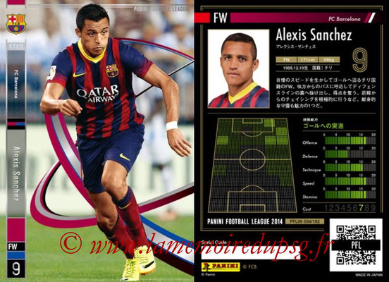 Panini Football League 2014 - PFL06 - N° 034 - Alexis SANCHEZ (FC Barcelone) (Star)