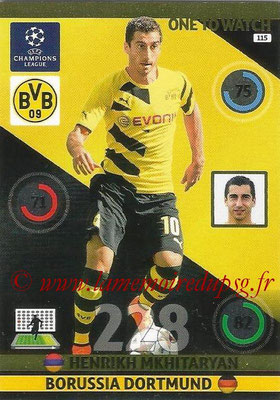 2014-15 - Adrenalyn XL champions League N° 115 - Henrikh MKHITARYAN (Borussia Dortmund) (One to watch)