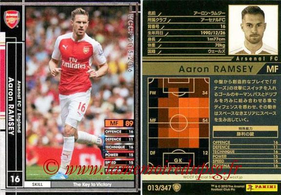 2015-16 - Panini WCCF - N° 013 - Aaron RAMSEY (Arsenal FC)