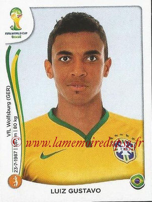 2014 - Panini FIFA World Cup Brazil Stickers - N° 042 - Luiz GUSTAVO (Brésil)