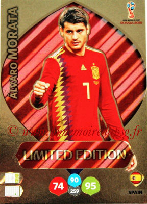 2018 - Panini FIFA World Cup Russia Adrenalyn XL - N° LE-AM - Alvaro MORATA (Espagne) (Limited Edition)