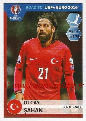 Panini Road to Euro 2016 Stickers - N° 382 - Olcay SAHAN (Turquie)
