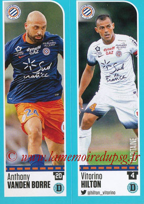 2016-17 - Panini Ligue 1 Stickers - N° 514 + 515 - Anthony VANDEN BORRE + Vitorino HILTON (Montpellier)