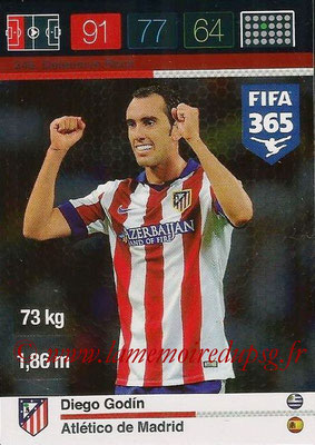 2015-16 - Panini Adrenalyn XL FIFA 365 - N° 246 - Diego GODIN (Atlético de Madrid) (Defensive Rock)