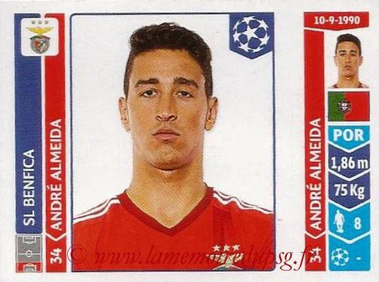 2014-15 - Panini Champions League N° 194 - André ALMEIDA (SL Benfica)