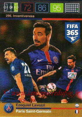2015-16 - Panini Adrenalyn XL FIFA 365 - N° 296 - Ezequiel LAVEZZI (Paris Saint-Germain) (Inventiveness)