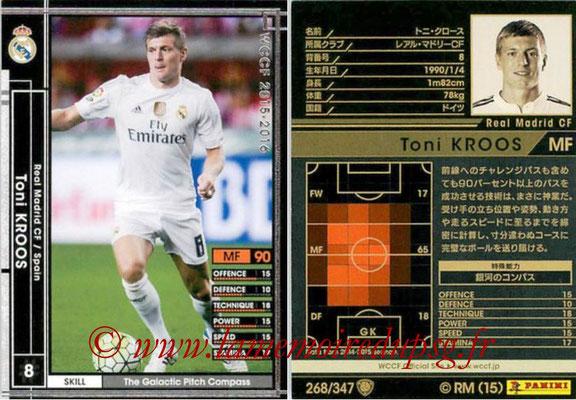 2015-16 - Panini WCCF - N° 268 - Toni KROOS (Real Madrid CF)