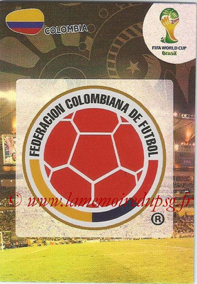 2014 - Panini FIFA World Cup Brazil Adrenalyn XL - N° 076 - Logo Colombie