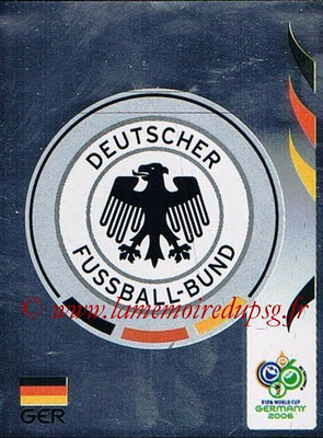 2006 - Panini FIFA World Cup Germany Stickers - N° 018 - Ecusson Allemagne