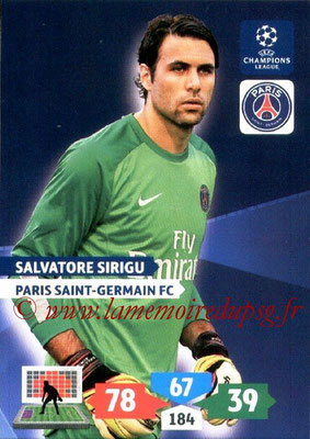 2013-14 - Adrenalyn XL champions League N° 226 - Salvatore SIRIGU (Paris Saint-Germain)