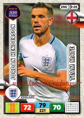 2018 - Panini Road to FIFA World Cup Russia Adrenalyn XL - N° ENG08 - Jordan HENDERSON (Angleterre)