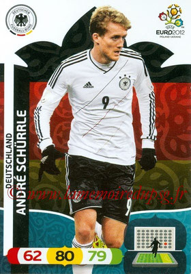Panini Euro 2012 Cards Adrenalyn XL - N° 042 - André SCHÜRRLE (Allemagne)