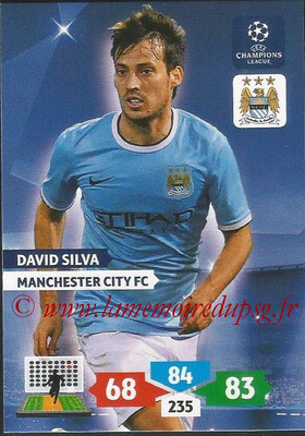 2013-14 - Adrenalyn XL champions League N° 167 - David SILVA (Manchester City FC)