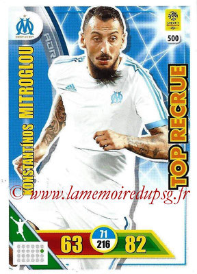 2017-18 - Panini Adrenalyn XL Ligue 1 - N° 500 - Konstantinos MITROGLOU (Marseille) (Top Recrue)