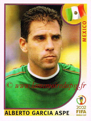 2002 - Panini FIFA World Cup Stickers - N° 504 - Alberto Garcia ASPE (Mexique)