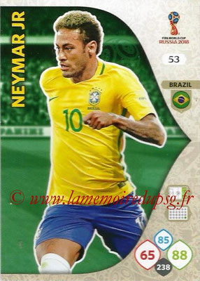 2018 - Panini FIFA World Cup Russia Adrenalyn XL - N° 053 - NEYMAR JR (Brésil)