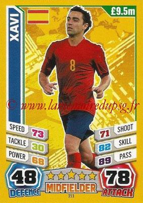 Topps Match Attax England 2014 - N° 211 - XAVI (Espagne)