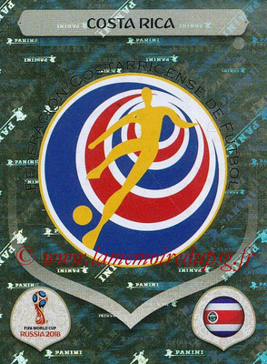 2018 - Panini FIFA World Cup Russia Stickers - N° 392 - Ecusson Costa Rica
