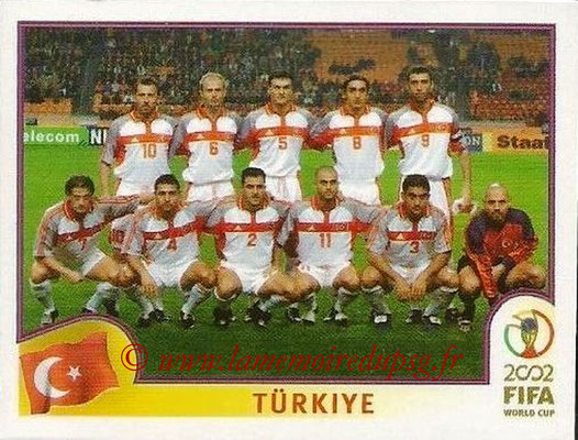 2002 - Panini FIFA World Cup Stickers - N° 187 - Equipe Turquie